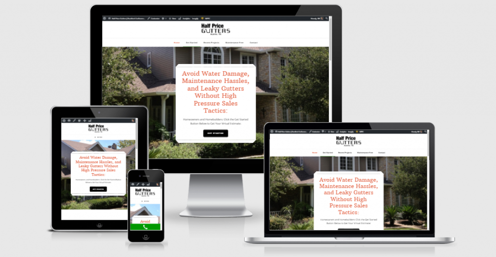 Rain Gutter Installation Company Website