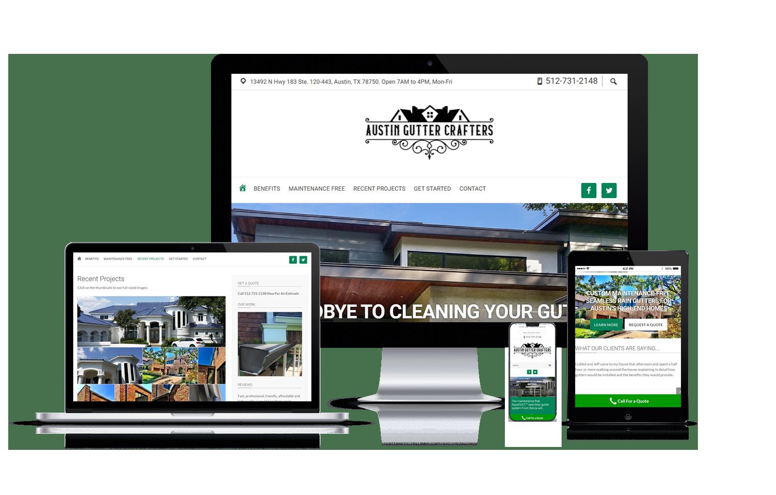 Austin Gutter Crafters Website